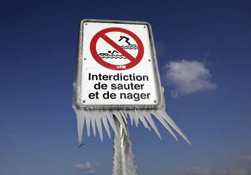 Природные ледяные скульптуры