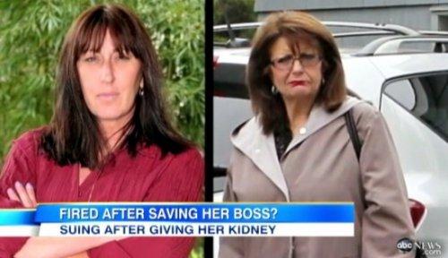 Женщина пожертвовала почку боссу и была уволена