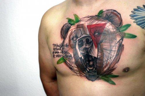 Татуировки-наброски Питера Ориша