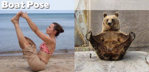 Йога в смешных фотографиях)