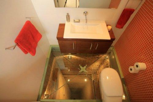 Ванная комната над шахтой лифта