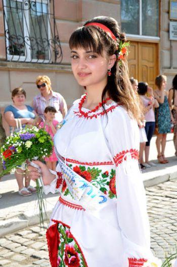 Патриотическое выпускное платье