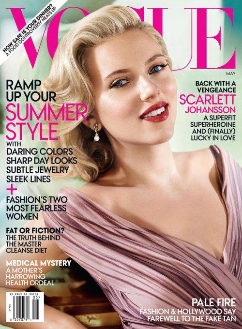 Скарлетт Йоханссон в фотосессии для журнала Vogue US