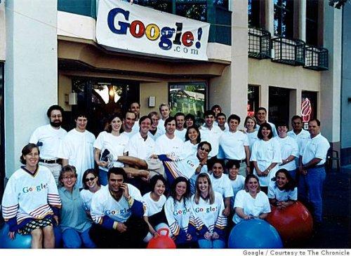 Фото сотрудников Google в 1999 году