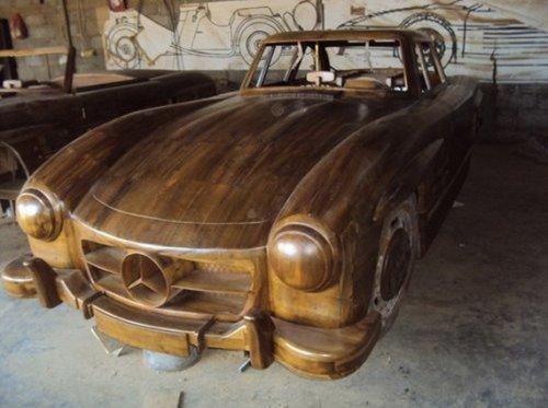 Деревянный Mercedes-Benz 300SL 1955