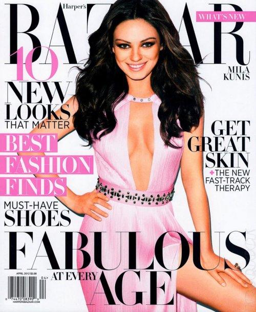 Мила Кунис в журнале Harper's Bazaar US