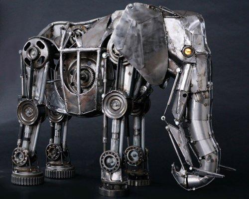 Стимпанк скульптуры животных