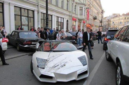 Авария с участием Lamborghini