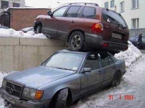 Неудачная парковка машин (26 фото)