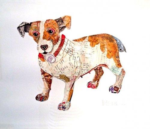 Собаки из старой бумаги