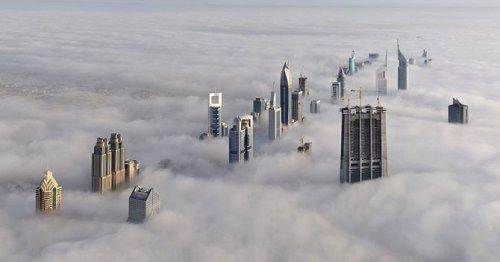 Известные города мира в тумане