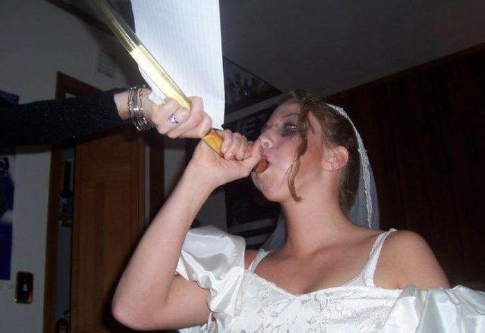 Невеста нажралась фото — 13