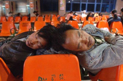Спящие люди из Китая