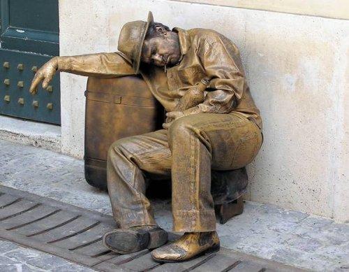Удивительные живые статуи