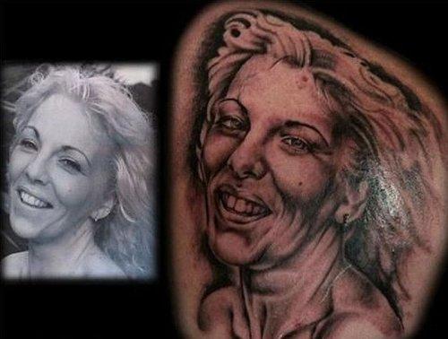 Ужасные портретные татуировки (32 шт)