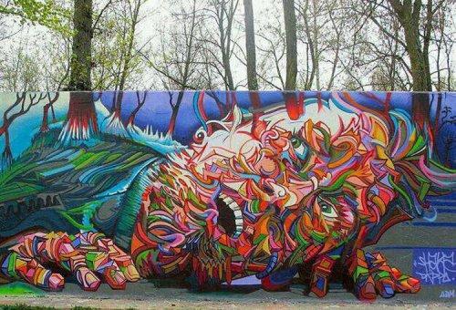 Креативный стрит-арт со всего мира