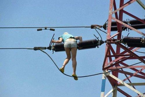 Прогулка по высоковольтным проводам