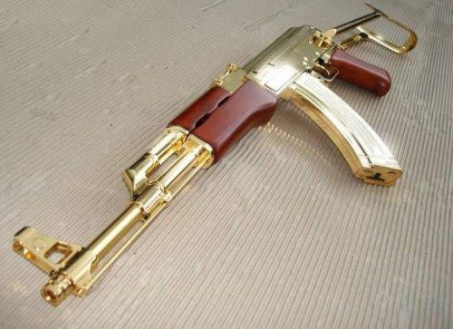 Золотое и серебряное оружие из коллекции Саддама Хусейна