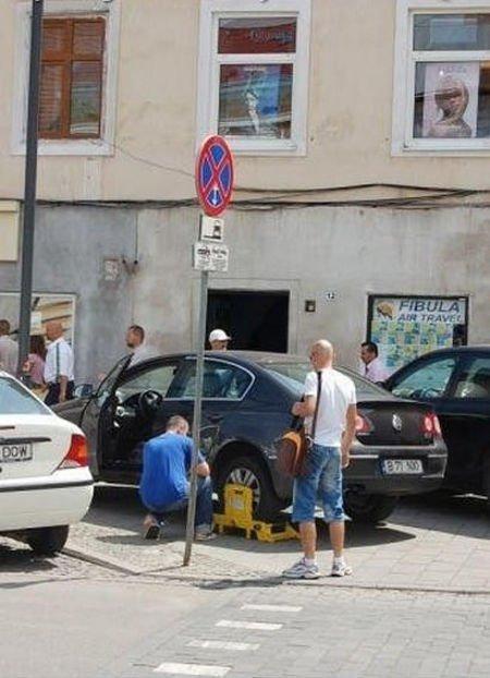 Как снять блокировку с колеса машины