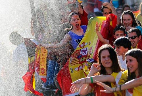 Триумф сборной Испании в Мадриде