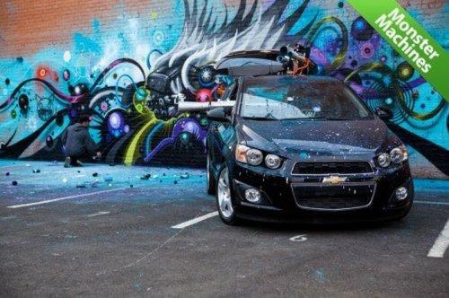 Автомобиль-робот для создания граффити