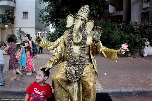 Фестиваль живых скульптур в Израиле