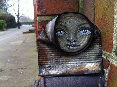 Стрит-арт из жестяных банок