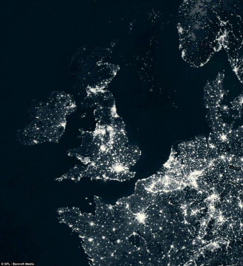 Карта энергопотребления нашей планеты
