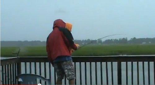Неожиданность на рыбалке