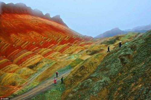 Китайское чудо Danxia Landform