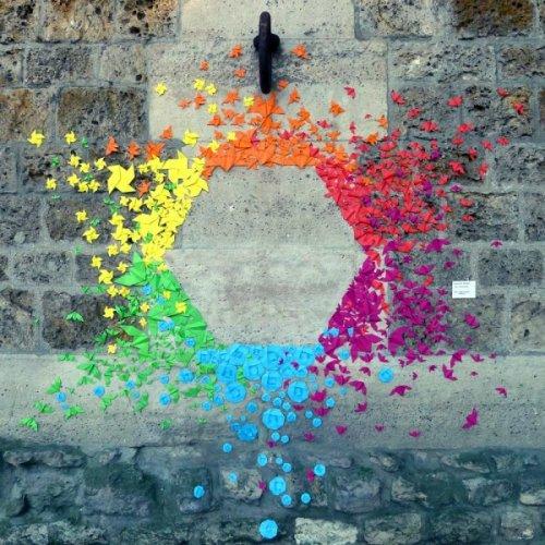 Уличные оригами мадемуазель Морис