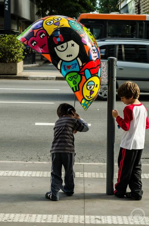 Парад таксофонов в Сан-Паулу