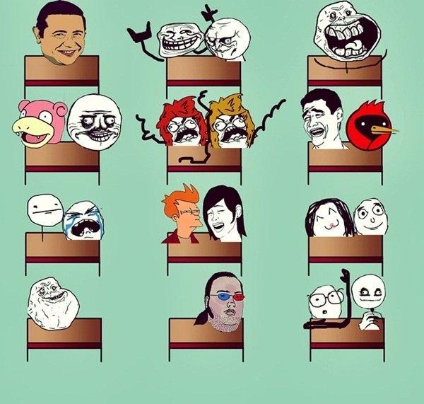 Картинки про одноклассников в школе смешные