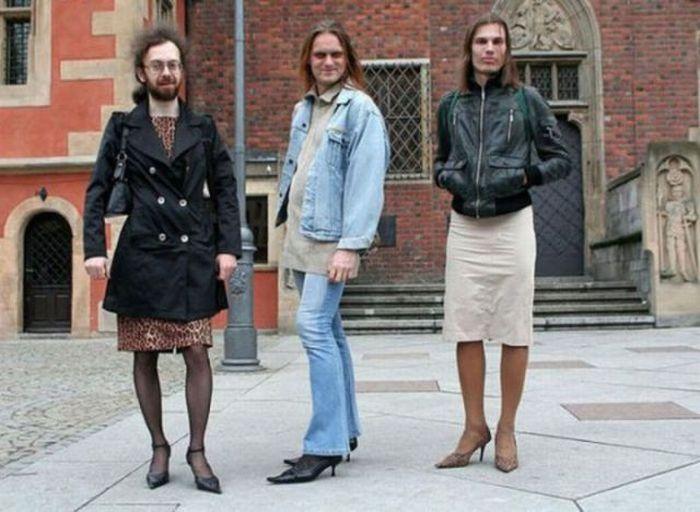 Тот кто носит женскую одежду