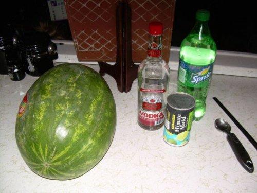 Ледяной арбуз - отличное алкогольное лакомство