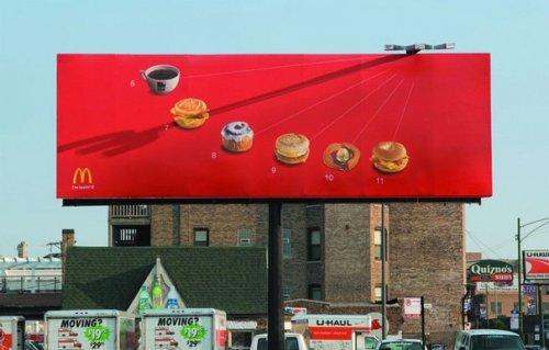 Креативные рекламные щиты