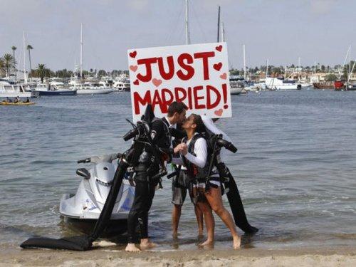 Нестандартная свадьба в Калифорнии