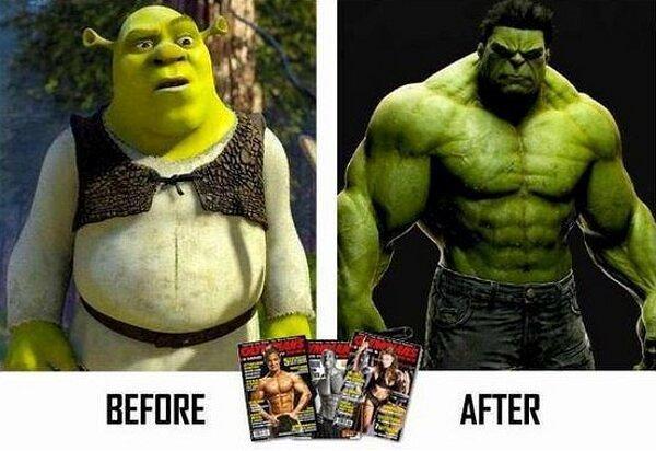 Картинки до и после прикол