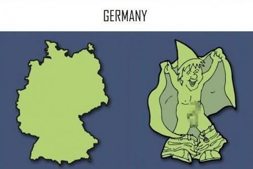 На что похожи страны Европы