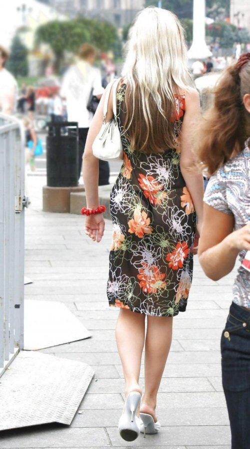 Классное прозрачное платье