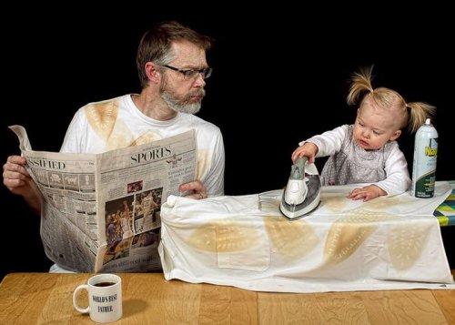 Поучительные истории об отце и ребенке в картинках
