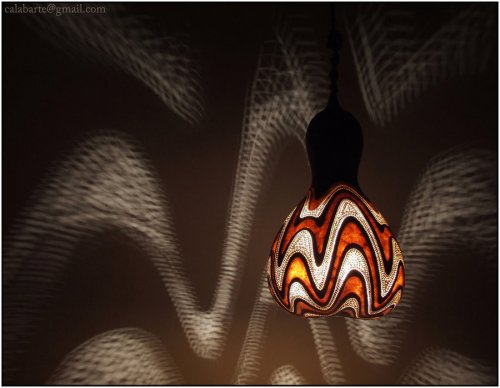 Уникальные светильники из тыкв