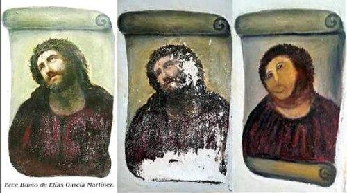 """""""Талантливая"""" реставрация фрески"""