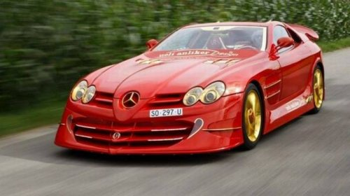 Золотой Mercedes-Benz SLR McLaren Red Gold Dream
