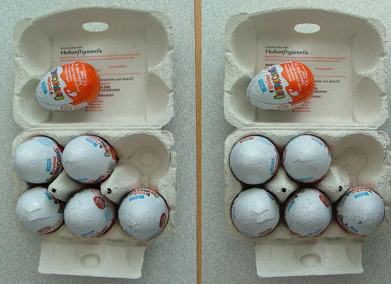 Киндер сюрприз в коробке из под яиц своими руками