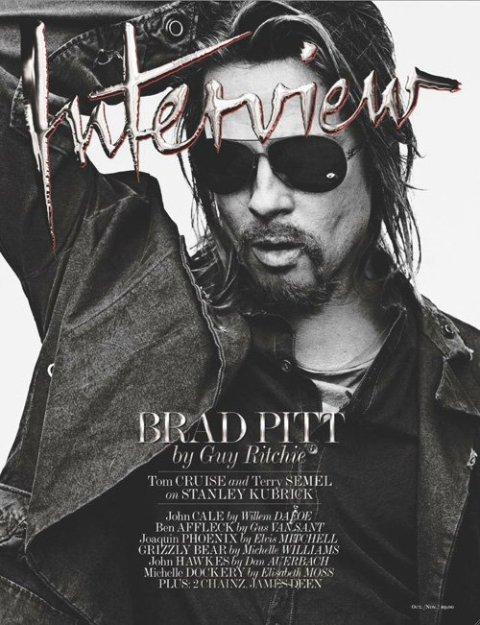 Фотосессия Брэда Питта для журнала Interview