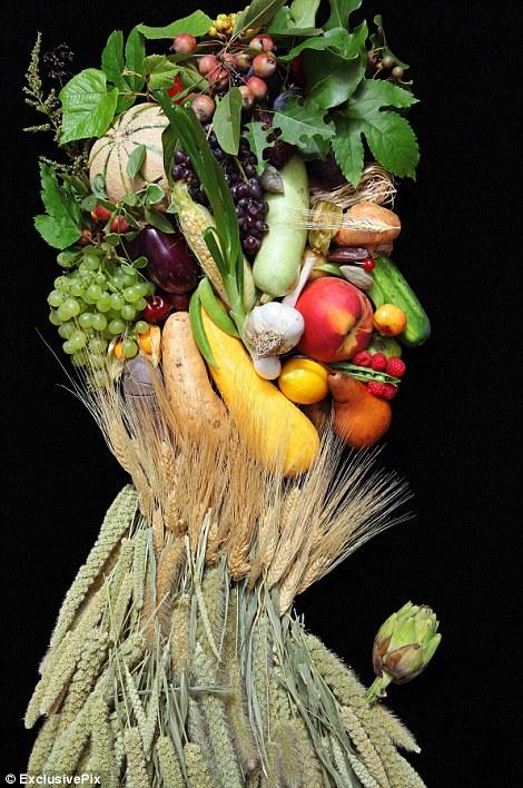 картины из овощей фото