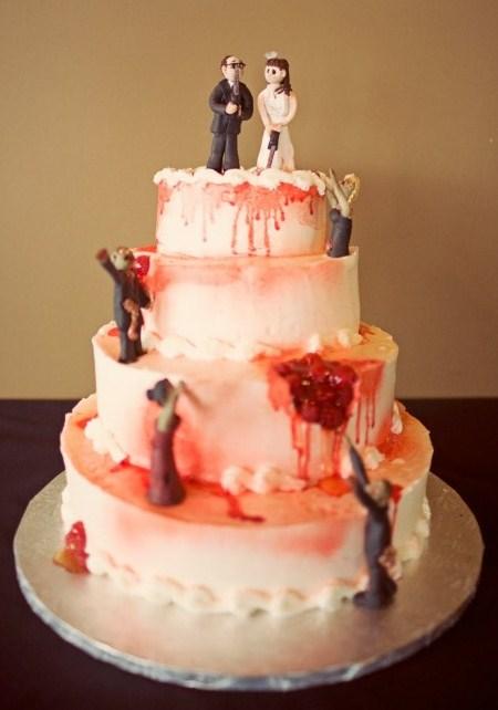 10 прикольных свадебных тортов на зомби-тематику