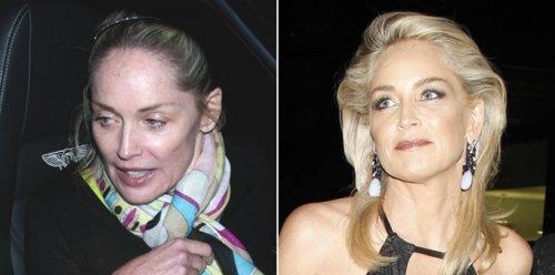 Известные женщины до и после нанесения макияжа