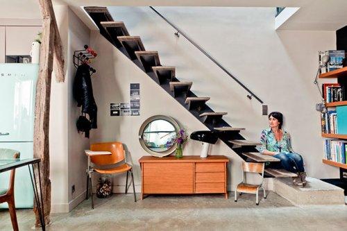Апартаменты архитекторов, построенные на чердаке одного из парижских зданий